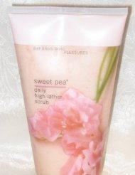 Bath & Body Works Sweet Pea Daily High Lather (Sweet Pea Salt Scrub)