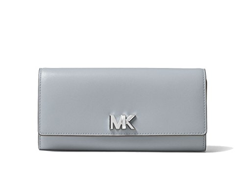 Michael Kors Dusty Blue Leather Mott Large Wallet