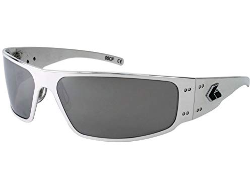 Gatorz Eyewear, Magnum Model, Aluminum Frame Sunglasses - Polish/Chrome ()
