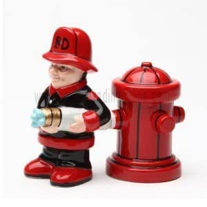 PG Trading 8599 4 in. Fireman Salt and Pepper Shakers