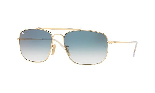 Ray-Ban Men's Steel Man Sungkass Square Sunglasses, Gold, 60 - The Ban Ray General
