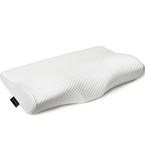 EPABO Contour Memory Foam Pillow Orthopedic Sleeping Pillows, Ergonomic Cervical Pillow for Neck Pain - for Back Sleepers Side Sleepers and Stomach Sleepers (Free Pillowcase Included)
