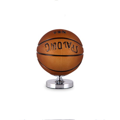 Rishx Creative Football Glass Desk Light Minimalist Iron Children's Table Lamp Restaurant Living Room Cafe Decoration Desktop Lantern Bedroom Bedside Night Light (Color : Basketball Table lamp)