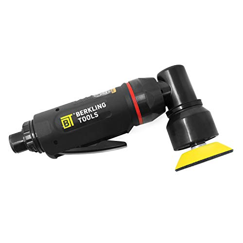 Berkling Tools BT 5201 Professional Grade Composite 2″ Mini High Speed Random Orbital Air Sander Pneumatic Polisher and Buffer