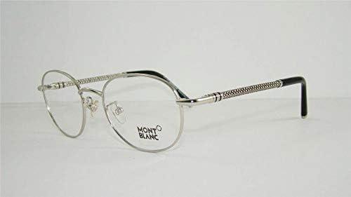 22594cacd55 Mont Blanc Unisex Full Rim Eyeglasses - Silver [MB 392 016]: Amazon.ae