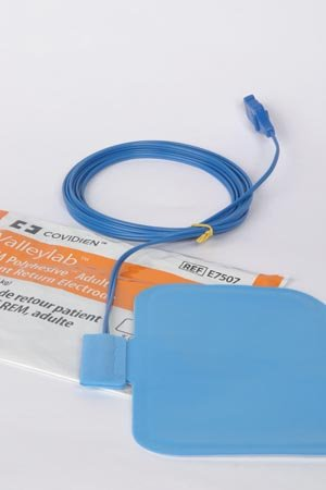(Covidien E7507 Valleylab REM Polyhesive Adult Patient Return Electrode, Latex-Free, 9' Size (Pack of)