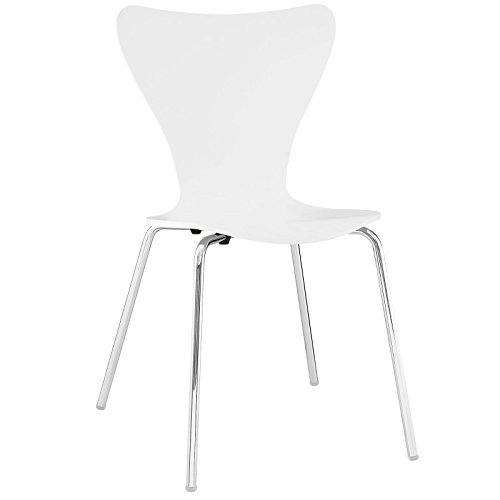 Modway Ernie Dining Side Chair in White