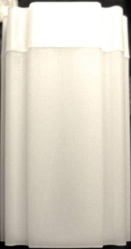 (10) CoinSafe Brand Square White Plastic (Silver Eagle) Size Coin Storage Tube Holders
