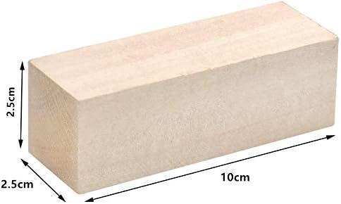 Lavorazione e Scolpitura 10 x 2.5 x 2.5cm TOKERD 20 Pezzi Intaglio del Blocco di Legno Incompiuto Naturale Blocchetti in Legno da Scolpire per Intaglio