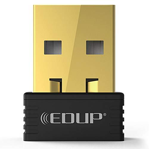 PETUNIA EDUP 150Mbps Mini USB WiFi Dongle Receptor inal/ámbrico 802.11 n//g//b Adaptador Ethernet Tarjeta de Red para Windows para Mac PC Negro