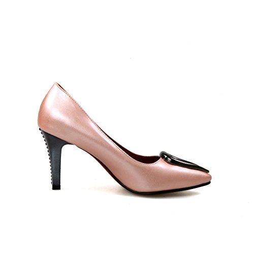 Balamasa Kvinners Utringede Overdel Metall Ornament Blandingsmaterialer Pumper-sko Rosa
