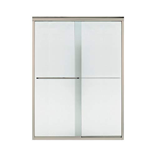 Sterling Plumbing 5375EZ-57DR-G69 Finesse 56 To 57.5-In X 70.3-In Frameless Slider Alcove Shower Door With Lake Mist Glass, 0.25-in L x 56-57.5-in W H, Deep - Finesse Shower Door G69