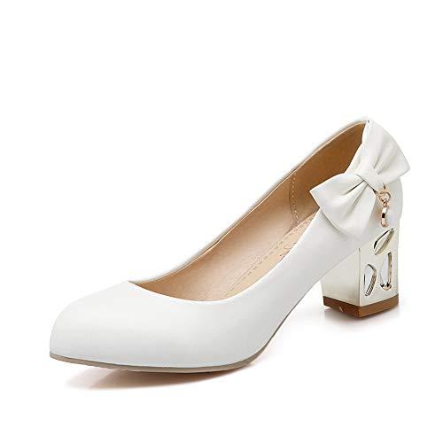 Blanc Blanc EU Sandales 5 Femme Inconnu 36 Compensées MMS06121 1TO9 Y6UwqZU