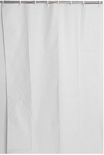 Commercial Curtain - GBS Heavy Duty Shower Curtain - Commercial Grade, White (48