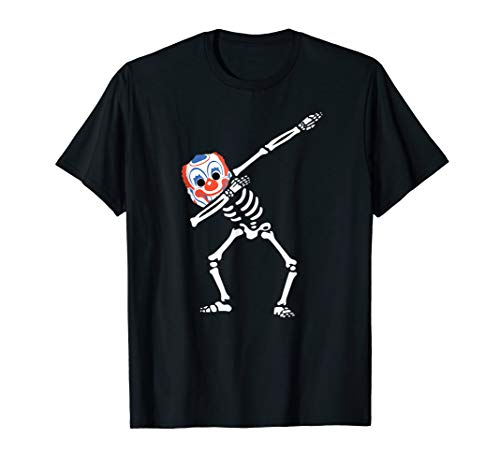 (Dabbing Vintage Clown Mask Skeleton t-shirt ~ Dab Hip)