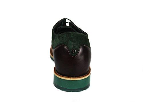 Zerimar Chaussures avec Augmente Intérieur DE 7 CM Fait de Cuir de Haute Qualité Style Décontracté 100% Peau Couleur Cuir Vert Taille 40