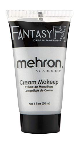 Silver Face Makeup (Mehron Makeup Fantasy F/X Water Based Face & Body Paint (1 oz))