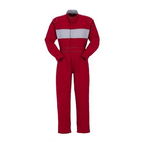 YAMATAKA(ヤマタカ)長袖つなぎ おしゃれ アームプラス機能 綿100%yt-7575 B01MSDKAU9 4L|レッド