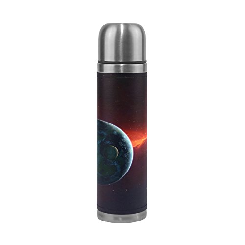 imobaby Jennifer Red Cosmos Planets Earth Leak Proof Water Bottle Insulated Vacuum Stainless Steel Thermos