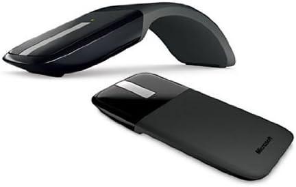 Microsoft ARC Touch Mouse - Ratón inalámbrico (USB, Baterías, BlueTrack, Ambidextro, Alcalino, Negro, Plata)