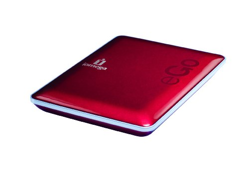 Iomega eGo Compact Edition USB 2.0 1TB Portable External Hard Drive 34882 (Ruby Red)