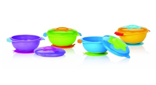 Nuby Wacky Ware Microwavable Bowl (Colours May Vary)