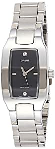 Casio Watch For Women Black Dial Stainless Steel Band - LTP-1165A-1C2DF