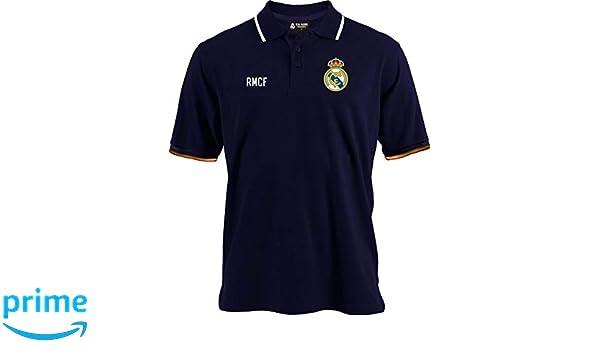 Real Madrid Polo C.F. Oficial de niño y de Hombre Azul Marino 2018 ...