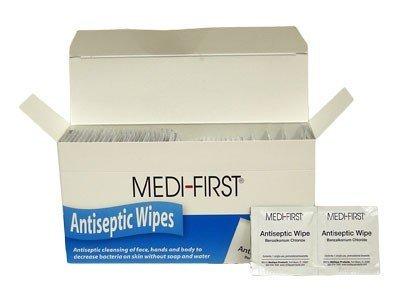 Medi-First 21433 Antiseptic Wipes, 100 Per Box