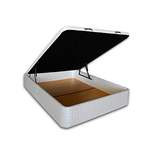 Ventadecolchones - Canapé Modelo Serena Gran Capacidad tapizado en Sevilla Blanco Nacar Medidas 200 x 200 cm (2 und 100 x 200): Amazon.es: Juguetes y juegos
