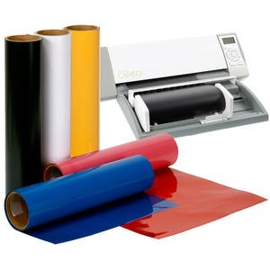 5-Color Bundle SISER EasyWeed Heat Transfer Vinyl 10'' x 5 Yds + Free Roll Feeder by Greenstar