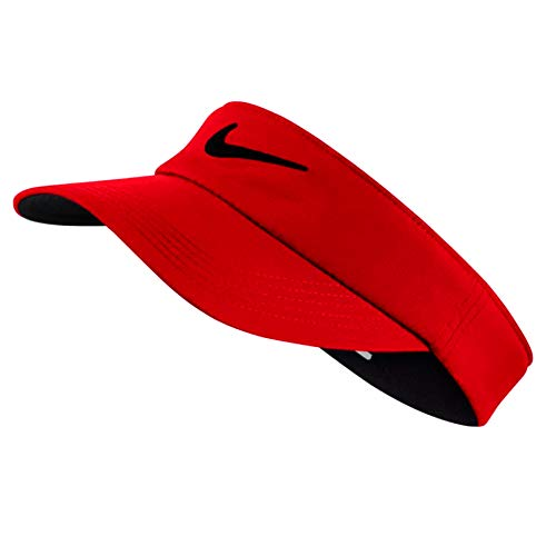 Nike Golf Tech Visor, University Red, Adjustable by Nike
