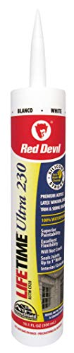 Red Devil 0770 Lifetime Ultra Premium Elastomeric Acrylic Latex Sealant, White, ()