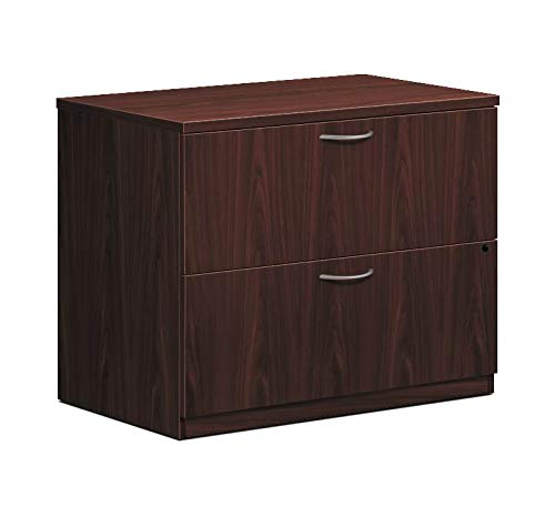 HON LMLATFN Foundation Lateral File 2 Drawers 35-1/2''W x 22''D x 29''H Mahogany Finish