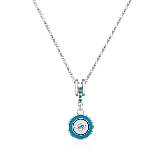 Pro Specialties Group NFL Miami Dolphins Charm Necklace