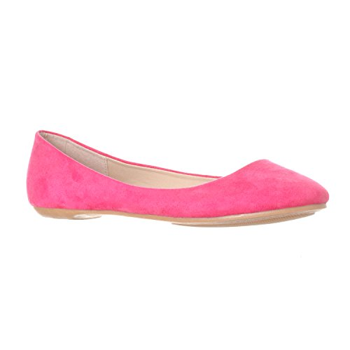 Riverberry Women's Aria Closed, Round Toe Ballet Flat Slip On Shoes, Fuchsia Suede, 8