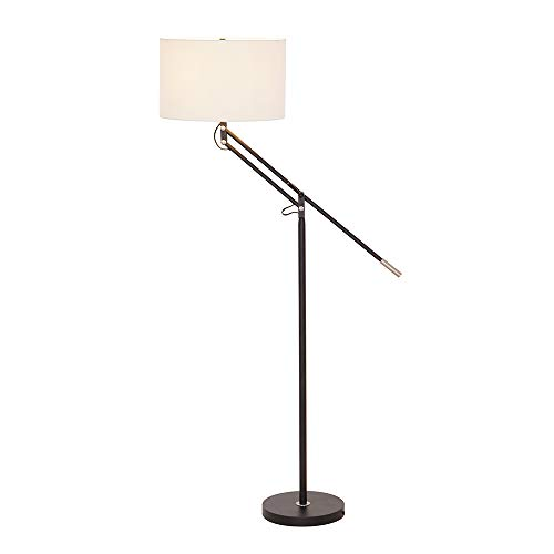 Stone & Beam Modern Casual Dark Bronze Floor Lamp with an Adjustable Arm, 64