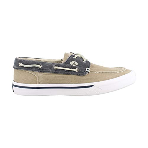 Sperry Top-Sider Men's Bahama II Boat Washed Sneaker, Taupe/Navy, 13 D(M) US