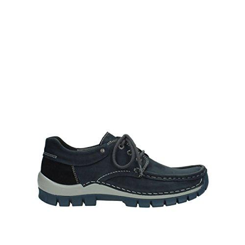 Mujer Azul Zapatos Para Cordones Wolky De Piel 4xvwqnzp