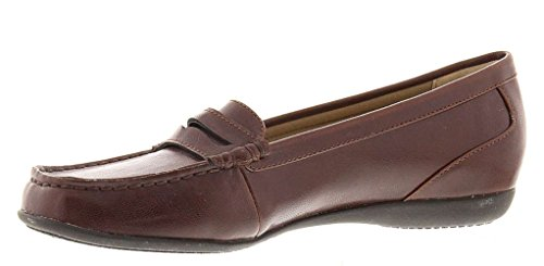 (Trotters Womens Francie Closed Toe Loafers, Brown, Size 11.0)