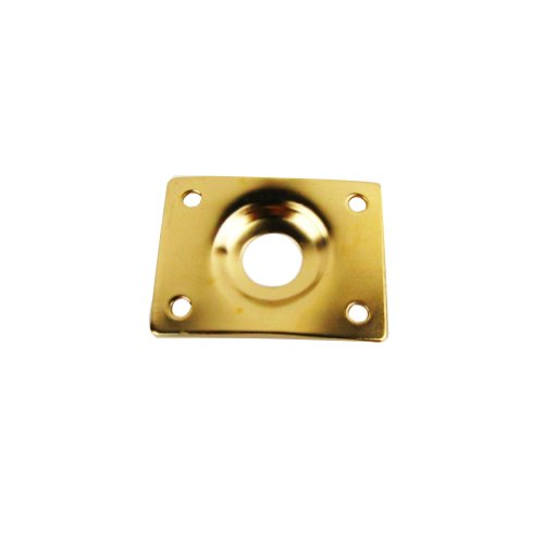Musiclily Blank Output Jack Plate for Gibson LP SG Guitar Replacement Guitar Parts, Gold