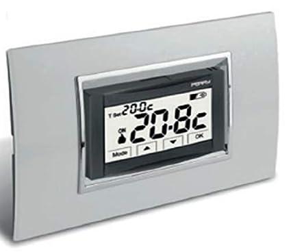 Schema Collegamento Orologio Perry : Perry tite termostato digitale v da incasso touch screen