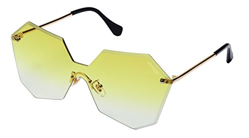 VIVOCH, Fashion Sunglasses for Women or Girls with the Cool and Bright Colors of the Ocean, W01, Yellow