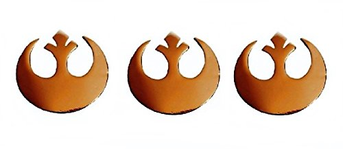 Star Wars Small Gold Color Rebel Alliance Symbol Metal Pin Set of 3 Pins -