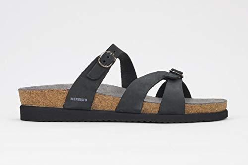 - Mephisto Women's Hannel Sandals Black Nubuck 8 M US