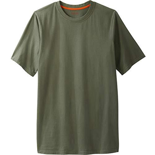 Boulder Creek Men's Big & Tall Heavyweight Crewneck T-Shirt, Olive Pigment Big-2XL