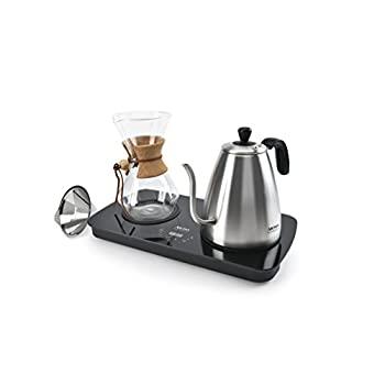 Image of Aroma Housewares (AWK-2000GD) Professional Digital Pour Over Coffee Maker, 1 L, Stainless Steel