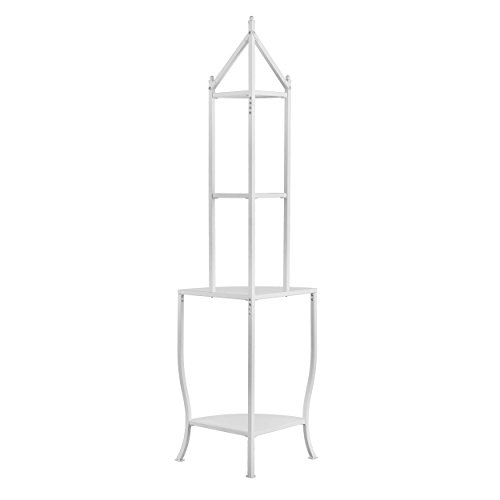 Furniture HotSpot Corner Bakers Rack - White - 25.5'' W x 18'' D x 76'' H by Furniture HotSpot (Image #3)