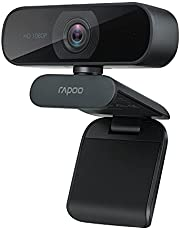 Rapoo C260 WebCam - FULL HD 1080P - 1080P For Sharp Clear Images - Bulit-in-omni-directional Microphone - Flexible rotation 360 Degree - 95 Degree Super Wide-Angle Lens