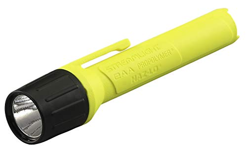 Streamlight 67101 2AA ProPolymer LED Alkaline Battery-Powered Flashlight, Yellow - 65 Lumens ()